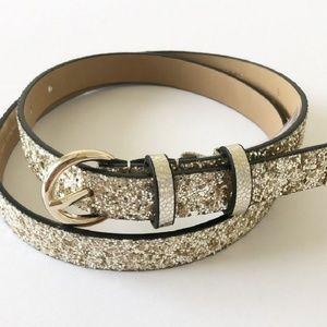 NWT Kate Spade Glitter Belt